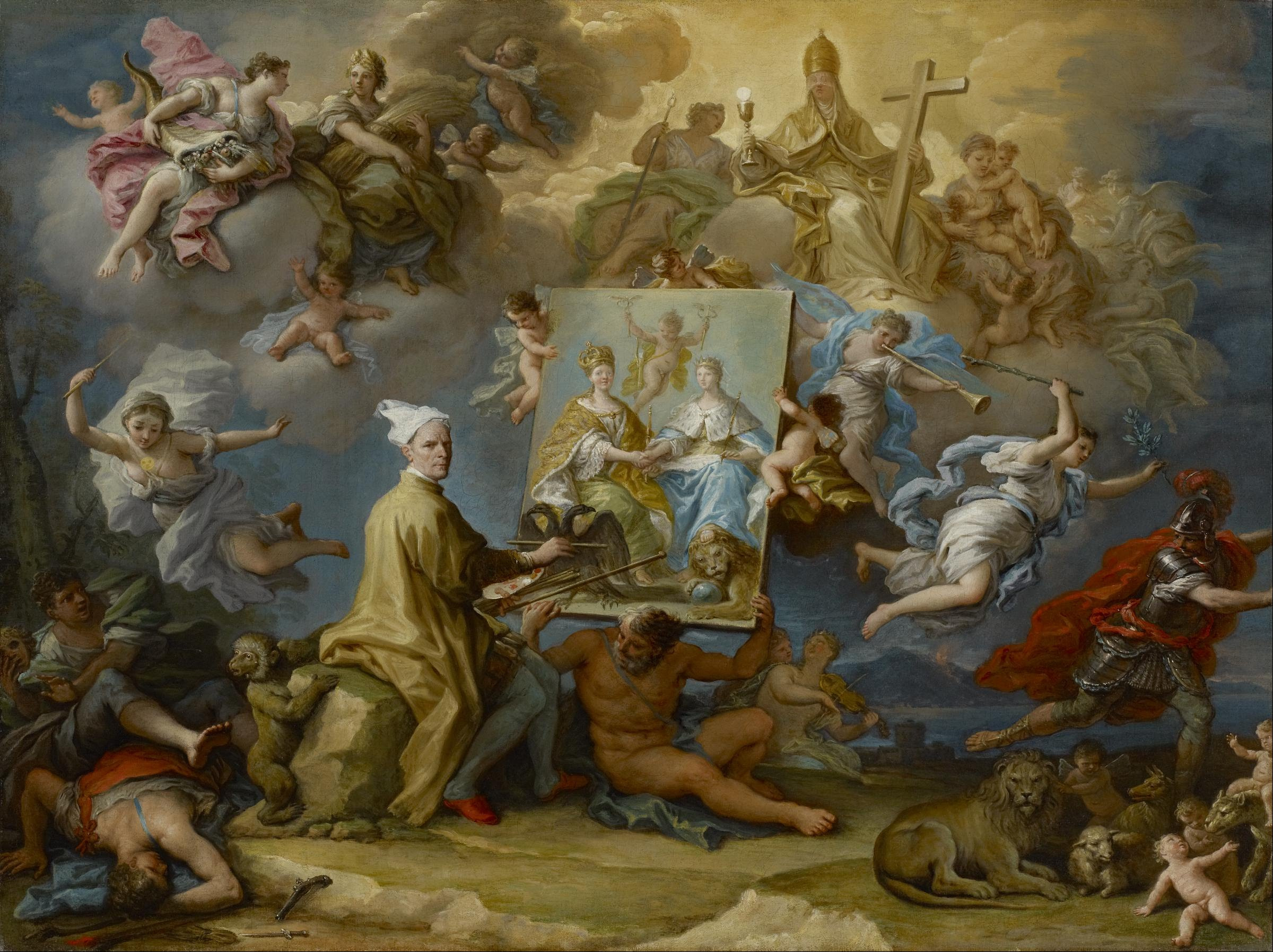 File paolo de matteis allegory of the consequences of for Christian mural paintings