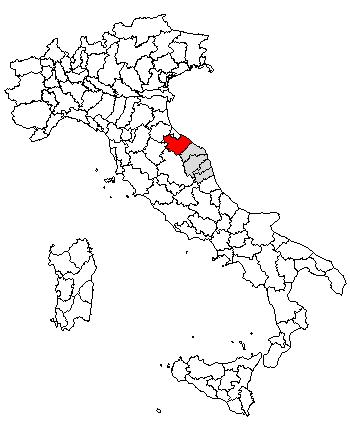 Cartina Geografica Provincia Di Pesaro Urbino.Provinsi Pesaro Dan Urbino Wikipedia Bahasa Indonesia Ensiklopedia Bebas