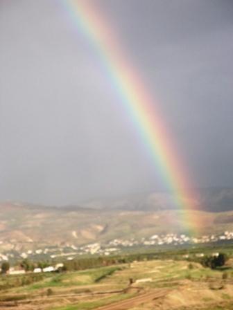 קשת  בענן בעמק הירדן
