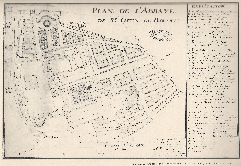 File Plan Abbaye Saint Ouen De Rouen 1711 Jpg Wikimedia Commons
