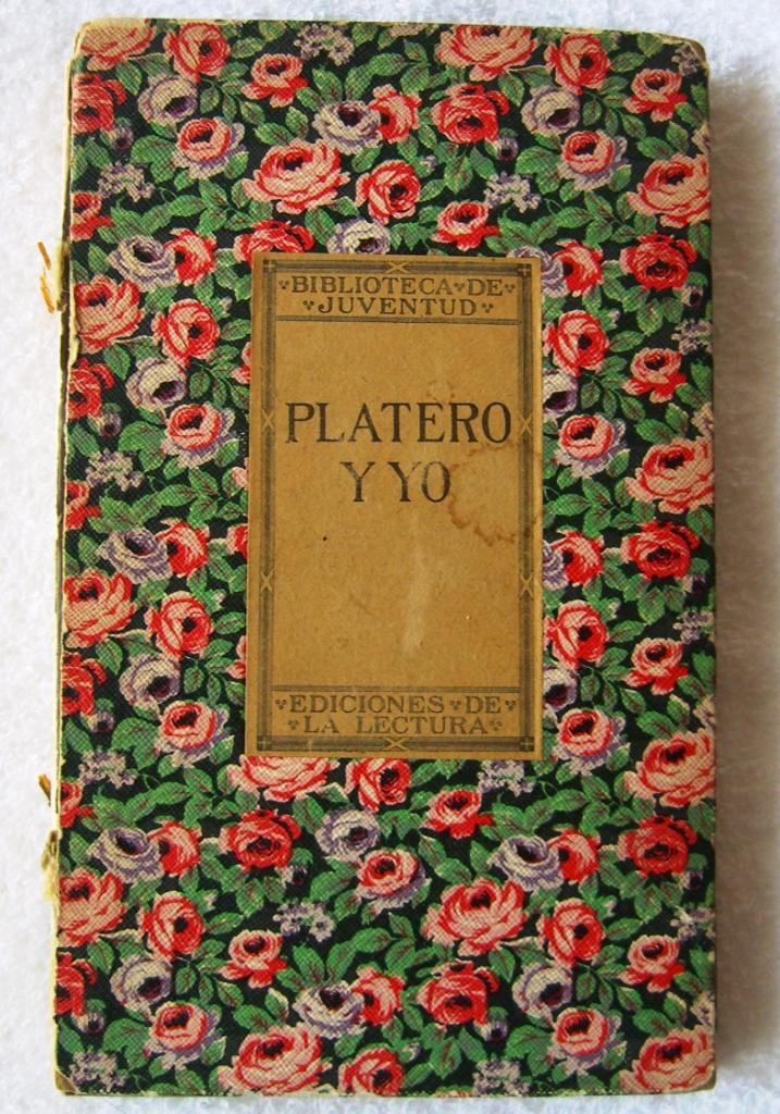 Primera edición (1914) de Platero y yo.