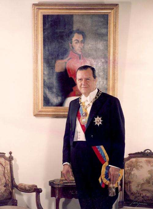 Depiction of Rafael Caldera