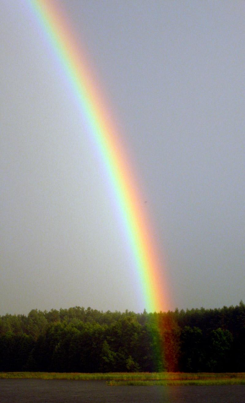 Rainbow above Kaviskis Lake, Lithuania.jpg