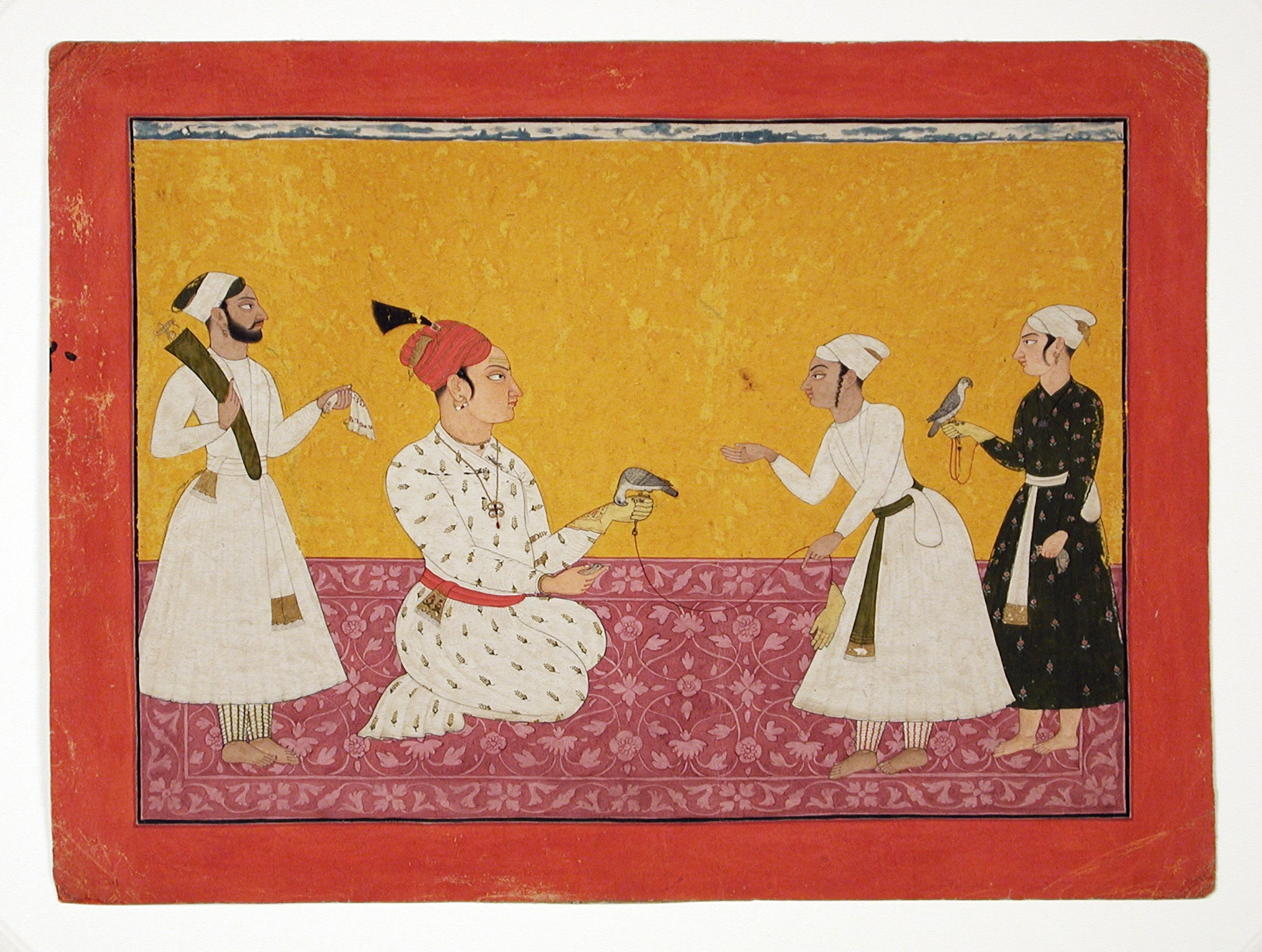 File:Raja Medini Pal (Reigned 1722-1736) of Basohli Being Presented with