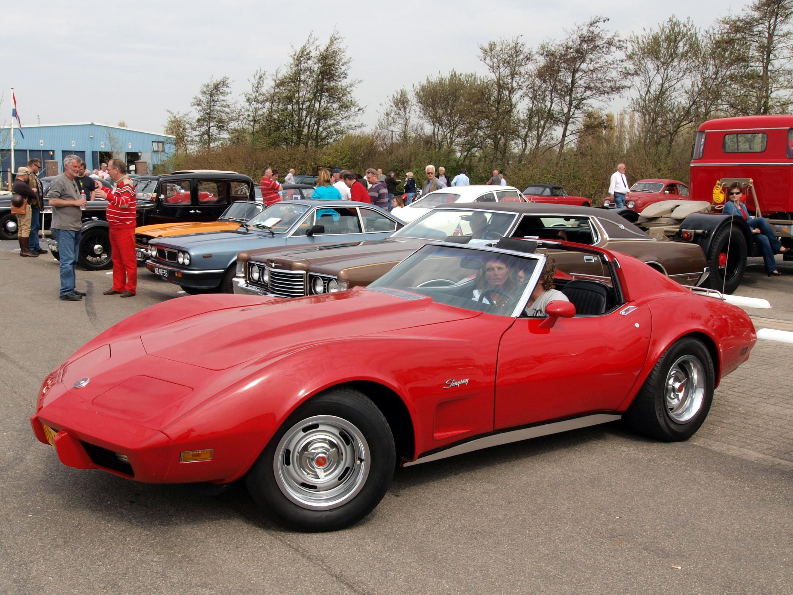 Red Stingray Corvette
