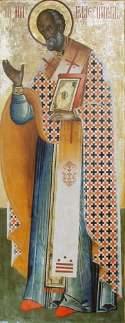 Saint Nicholas, Russian icon from first quarte...