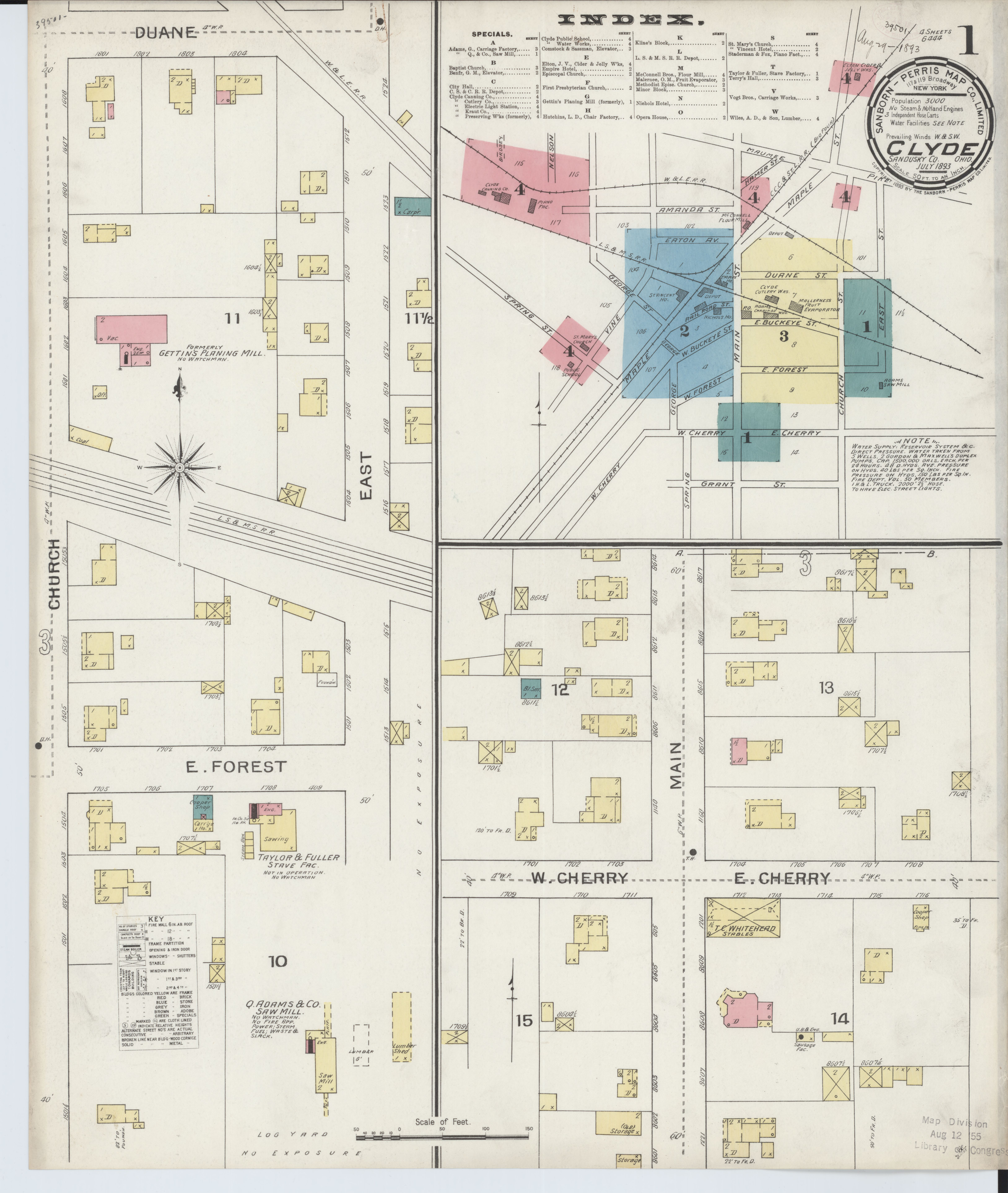 File:Sanborn Fire Insurance Map from Clyde, Sandusky County ... on chillicothe county map, joliet county map, akron county map, calgary county map, loveland county map, dayton county map, connersville county map, reynoldsburg county map, ohio county map, oh county map, wilmington county map, erie county map, rockford county map, wyandot county map, chariton county map, danbury county map, grand rapids county map, manassas county map, sioux city county map, wheeling county map,