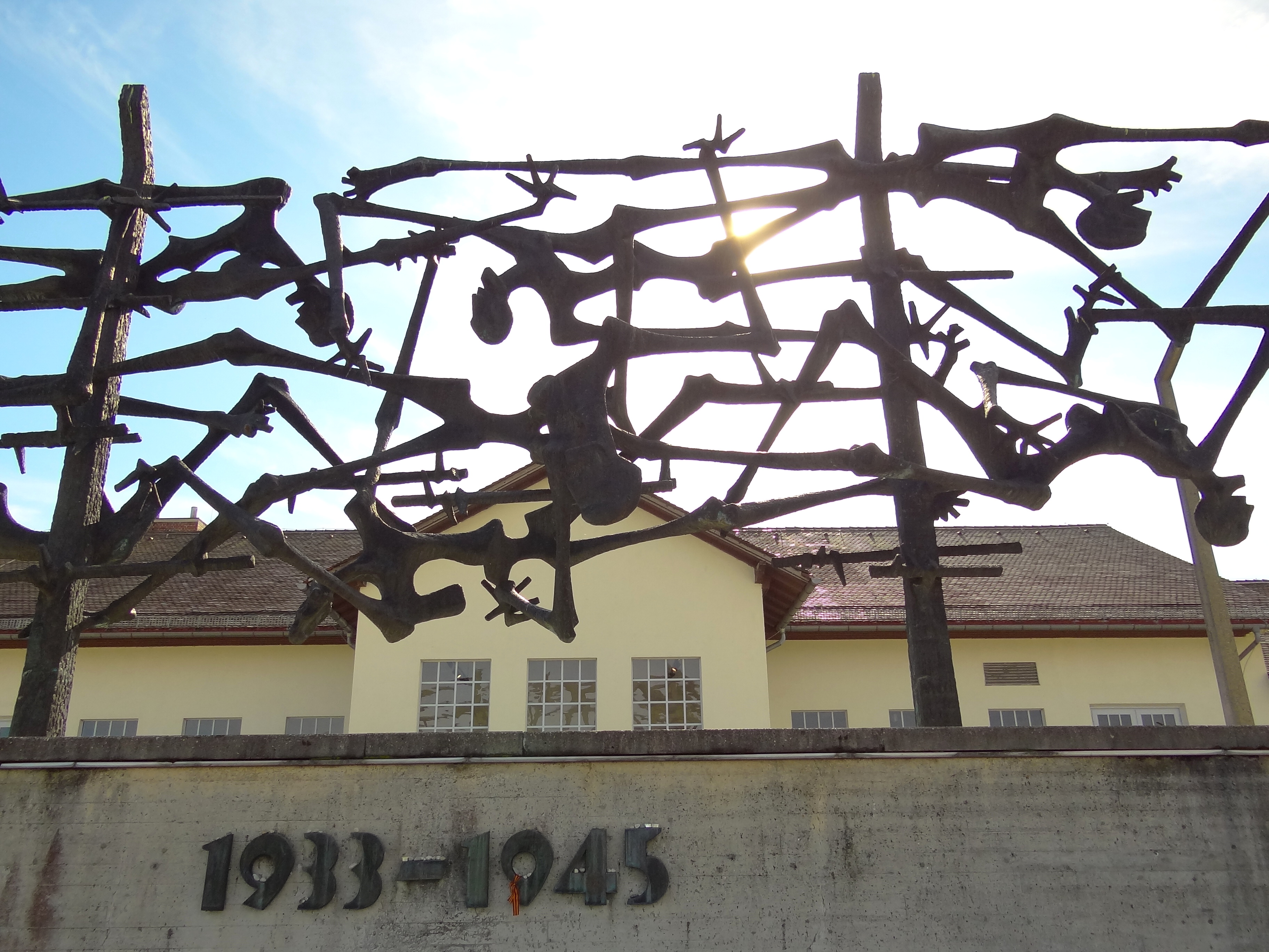 a sculpture at a concentration camp in bavaria a chilling reminder of the atrocities that were. Black Bedroom Furniture Sets. Home Design Ideas