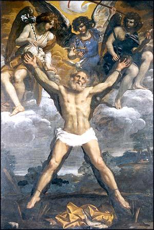 File:Scuola di Annibale Carracci - Crocifissione di Sant'Andrea Apostolo con gli Arcangeli Gabriele, Michele e Raffaele (3).jpg