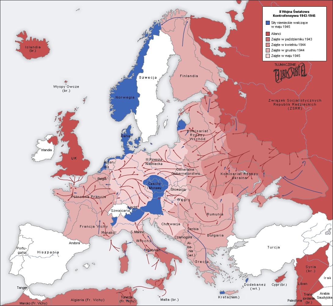 FileSecond World War Europe Map Plpng Wikimedia Commons - Central europe map 1945