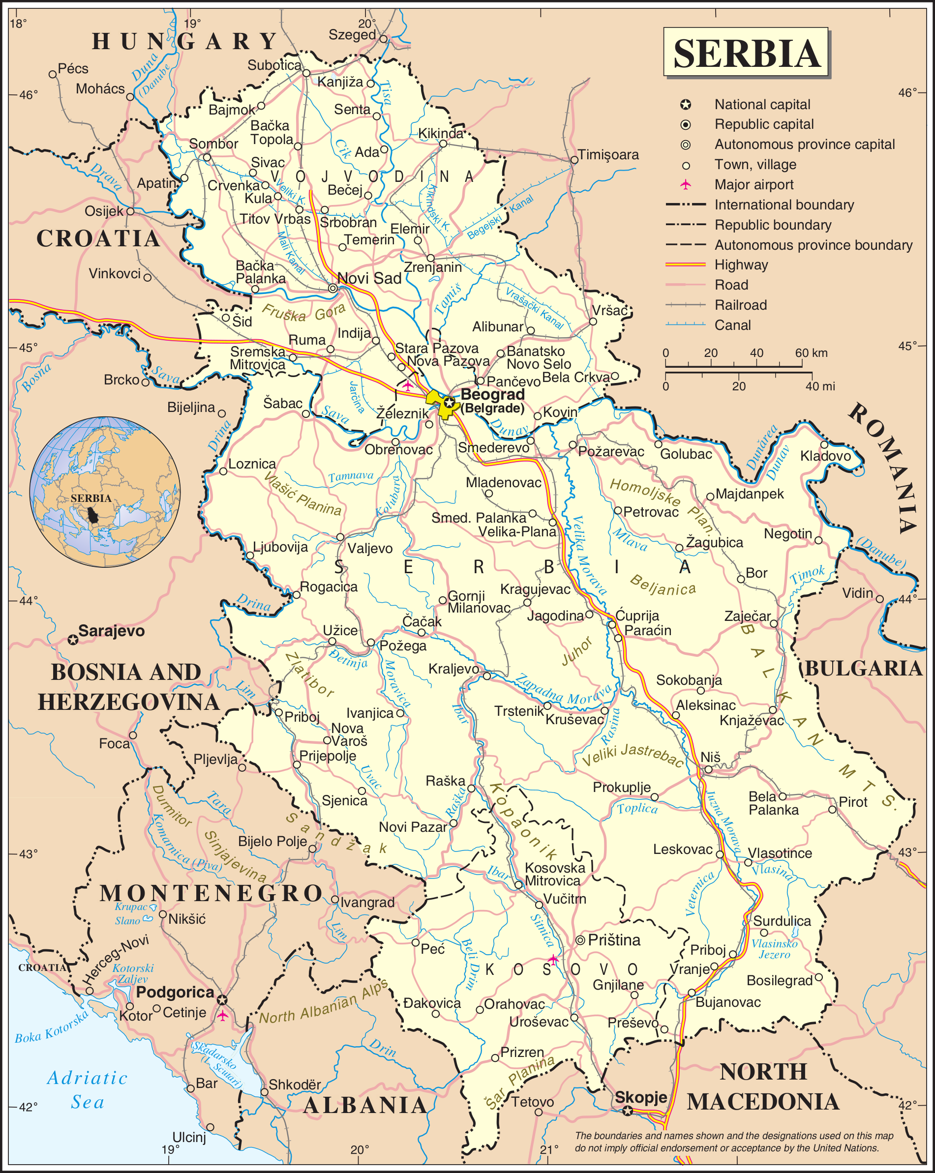 FileSerbia Mappng Wikimedia Commons - Map of serbia