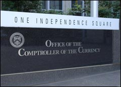"""English: Sign """"Office of the Comptroller ..."""