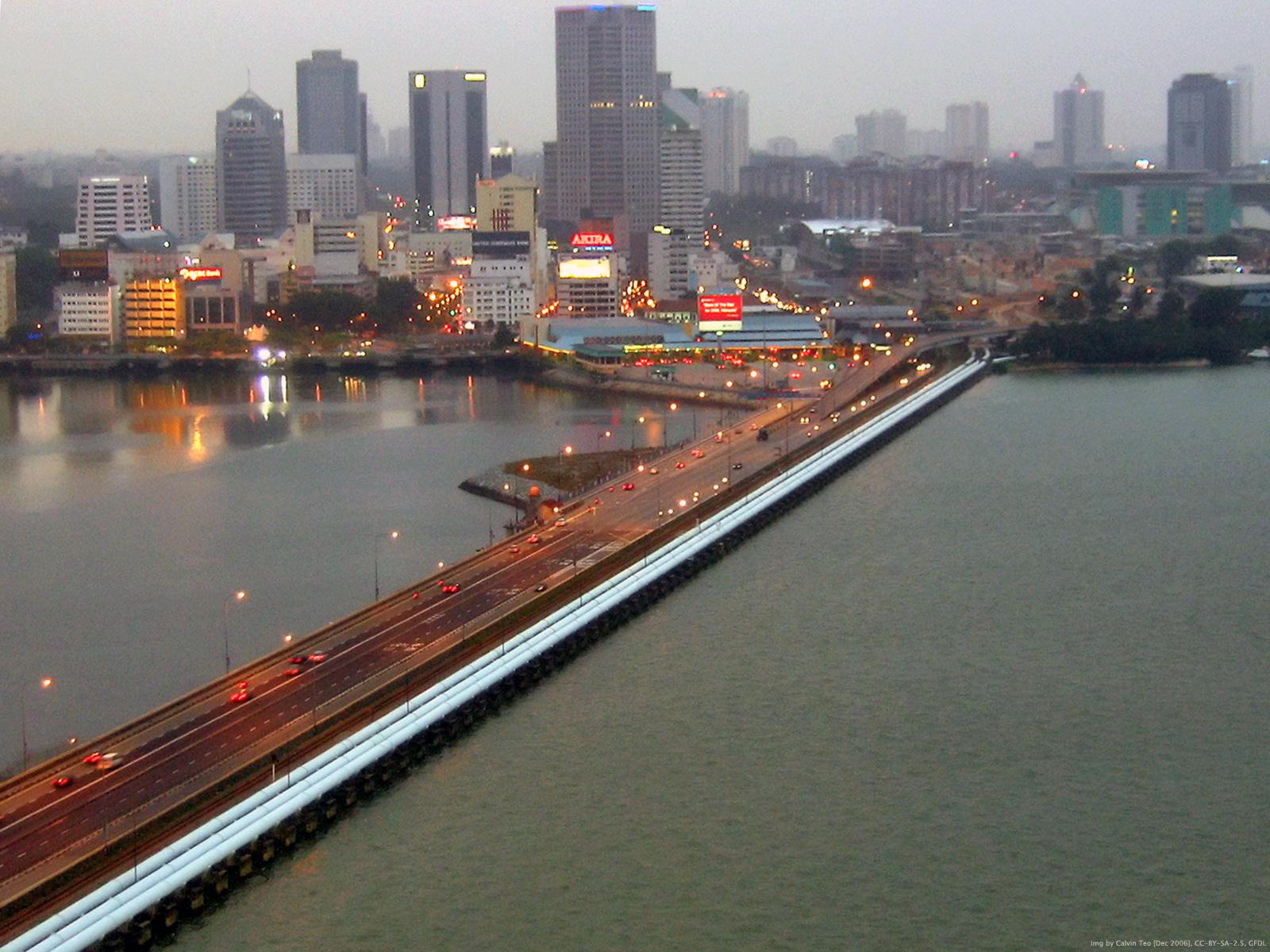 Description Singapore-Johor Causeway.jpg