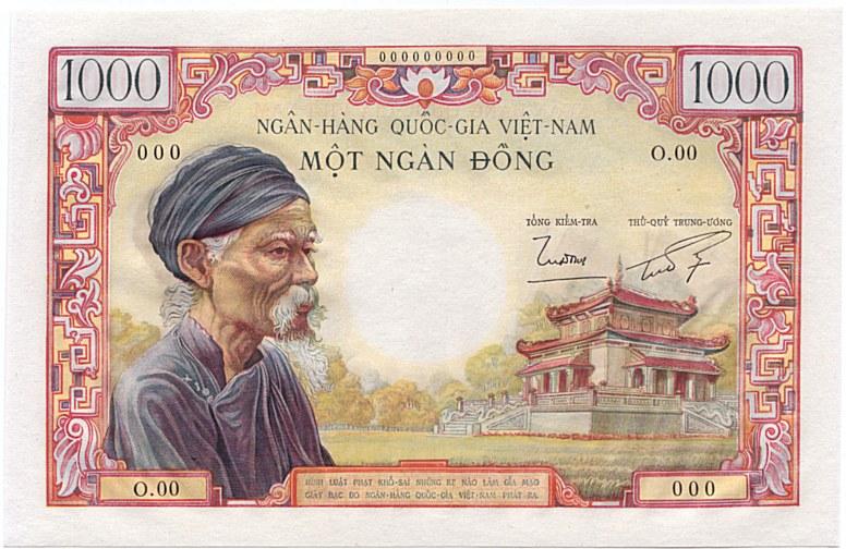 File South Vietnam 1000 Dong 1955 Averse Jpg Wikimedia Commons