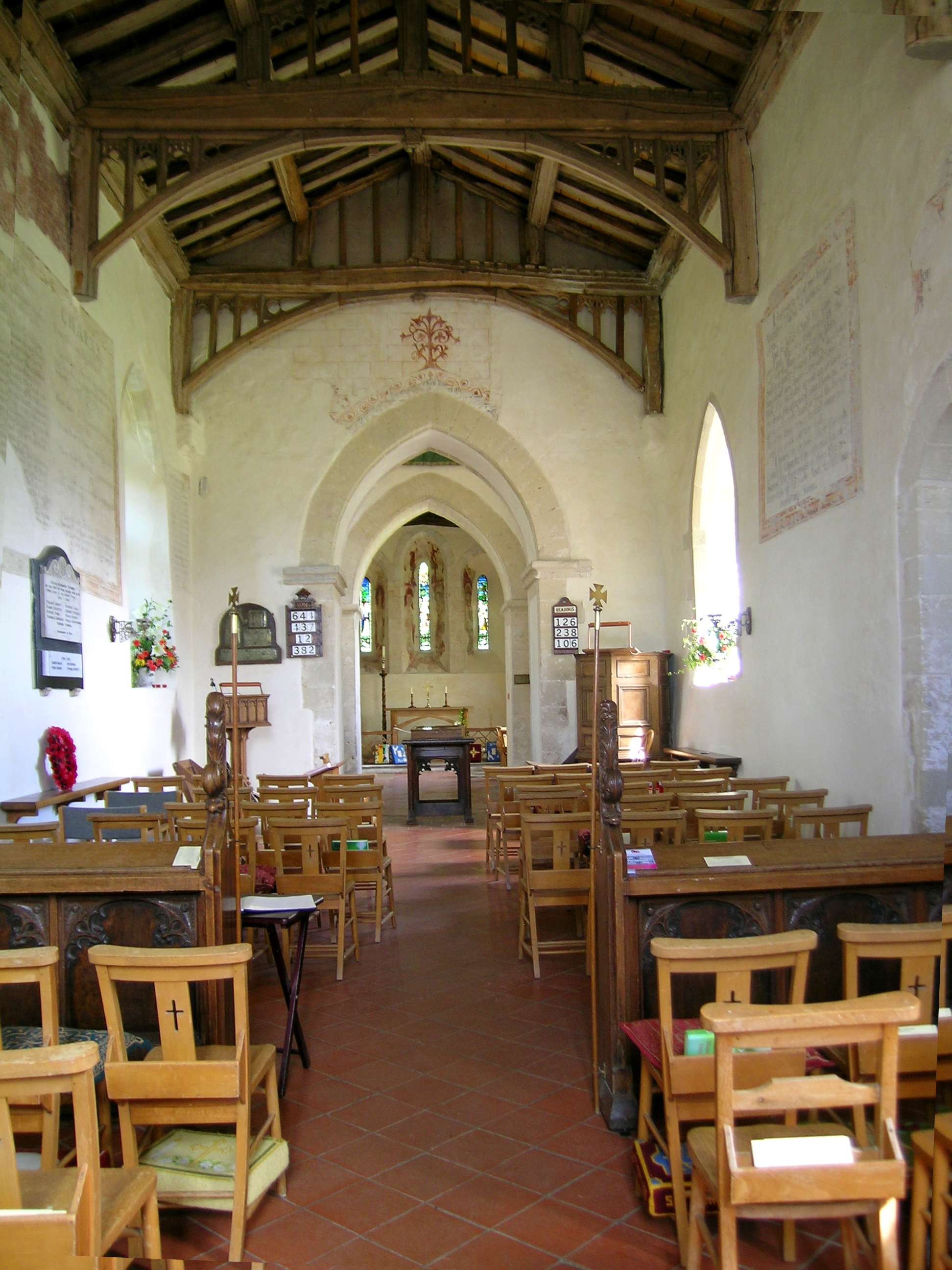 FileSt Marys Church Radnage Bucks England Interiorjpg
