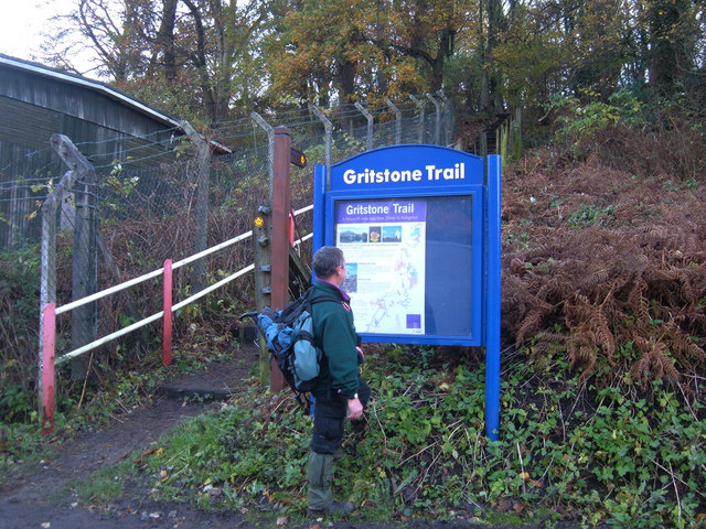Start of the Gritstone Trail at Disley - geograph.org.uk - 281269