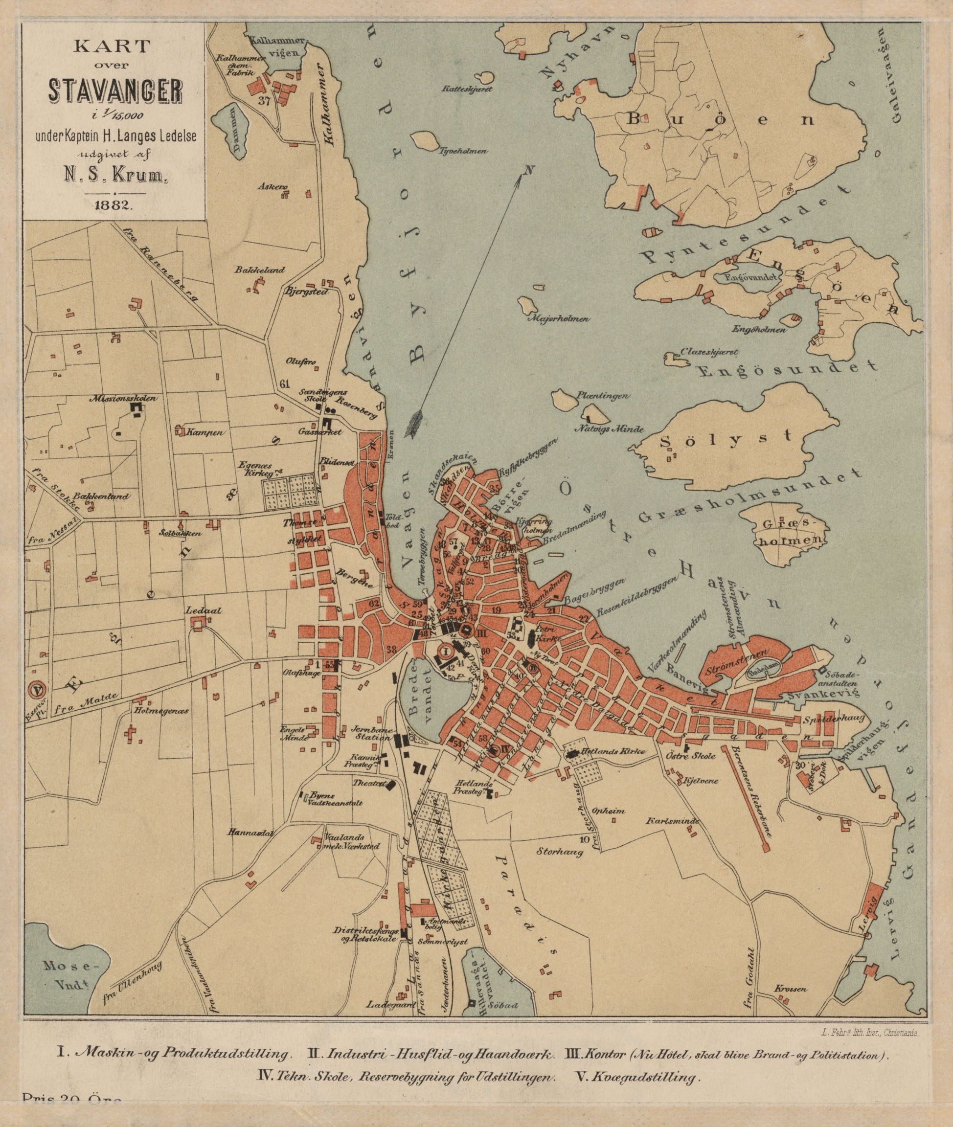 Karta Norge Stavanger.Vaizdas Stavanger Norway 1882 Jpg Vikipedija