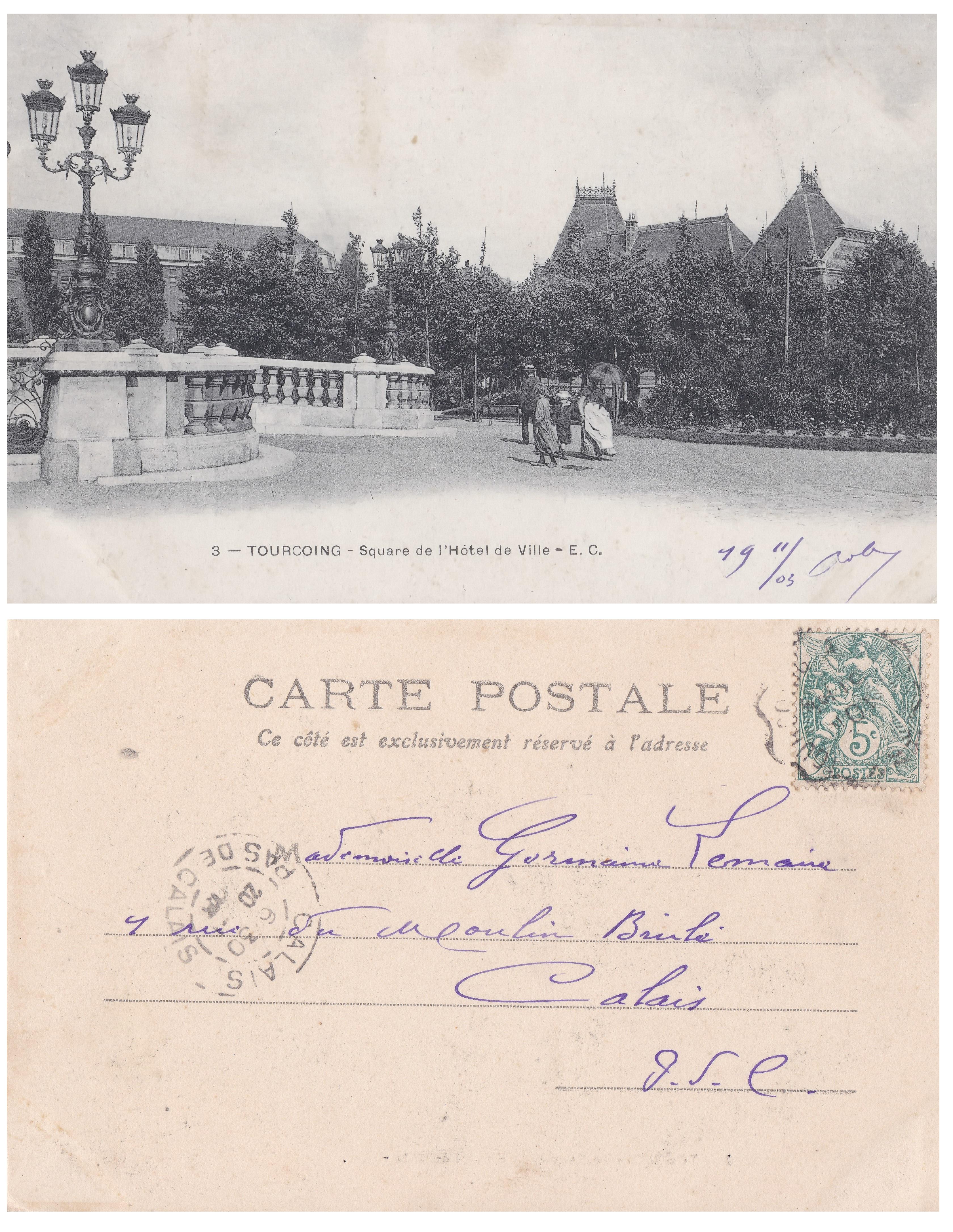 File Tourcoing Square De L Hotel De Ville Recto Verso Jpg