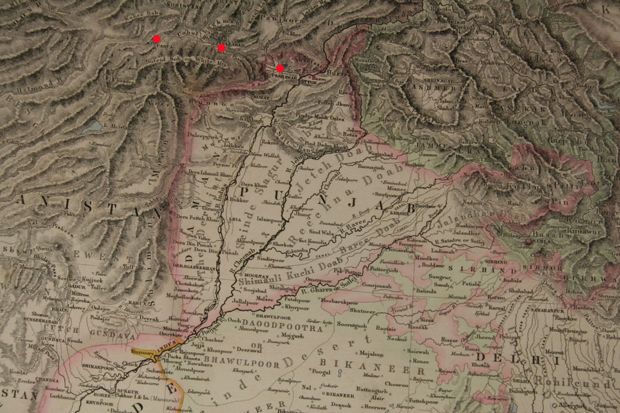 Punjab World Map.File The Punjab Five Rivers A Physical Map From Companion