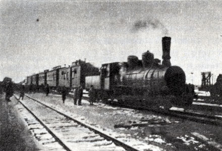 The first train in Ishimbaevo