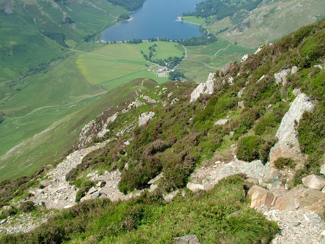 The steep path on Fleetwith Pike - geograph.org.uk - 899362
