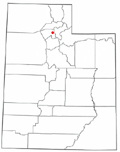 Location of Fruit Heights, Utah