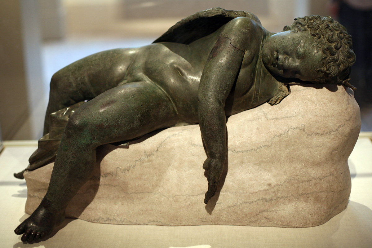 statue of man who does not last long in bed