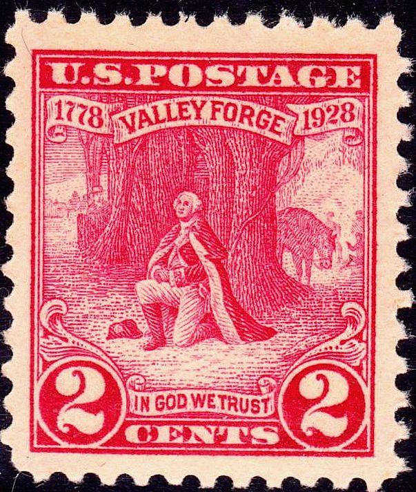 Washington at Prayer Valley Forge 1928 Issue-2c.jpg
