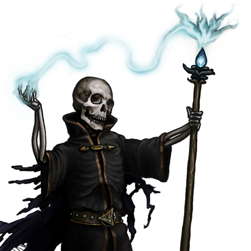 A lich as depicted in Battle for Wesnoth.