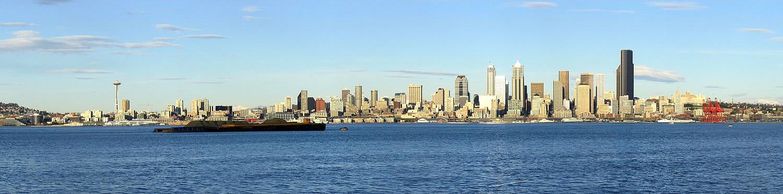 Skyline of Seattle From Alki