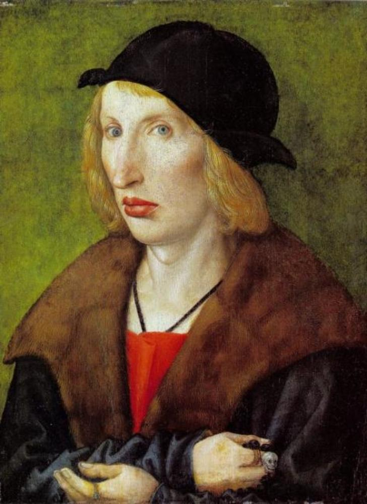 Portrait of Hans Gyger, Nuremberg patrician. Note his skull ring or rosary?