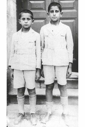 Yitzhak Navon (left) and his brother Victor in Jerusalem, 1929 Yitzhak Navon1929.jpg