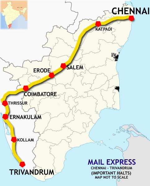 Chennai Thiruvananthapuram Ac Superfast Express Wikipedia