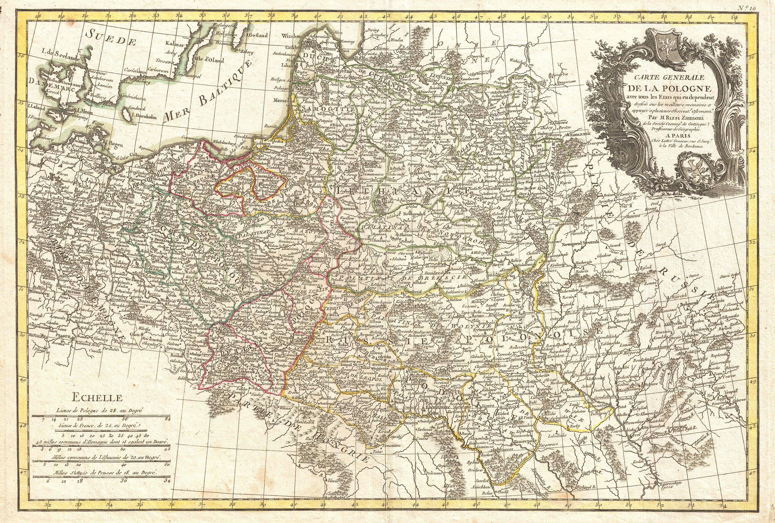 File:1771 Zannoni Map of Poland and Lithuania - Geographicus ... on