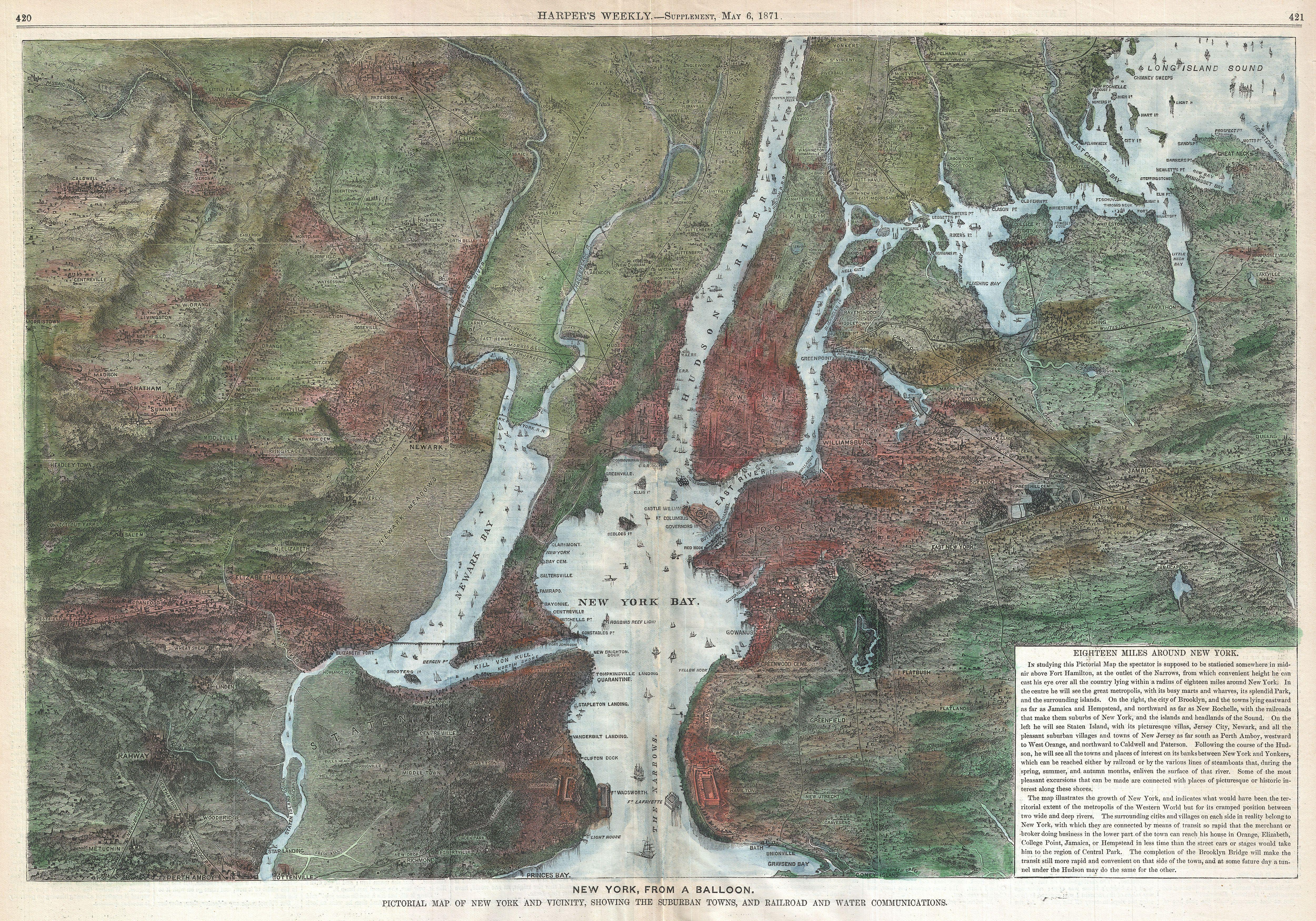 Map View of New York or Map of New York City