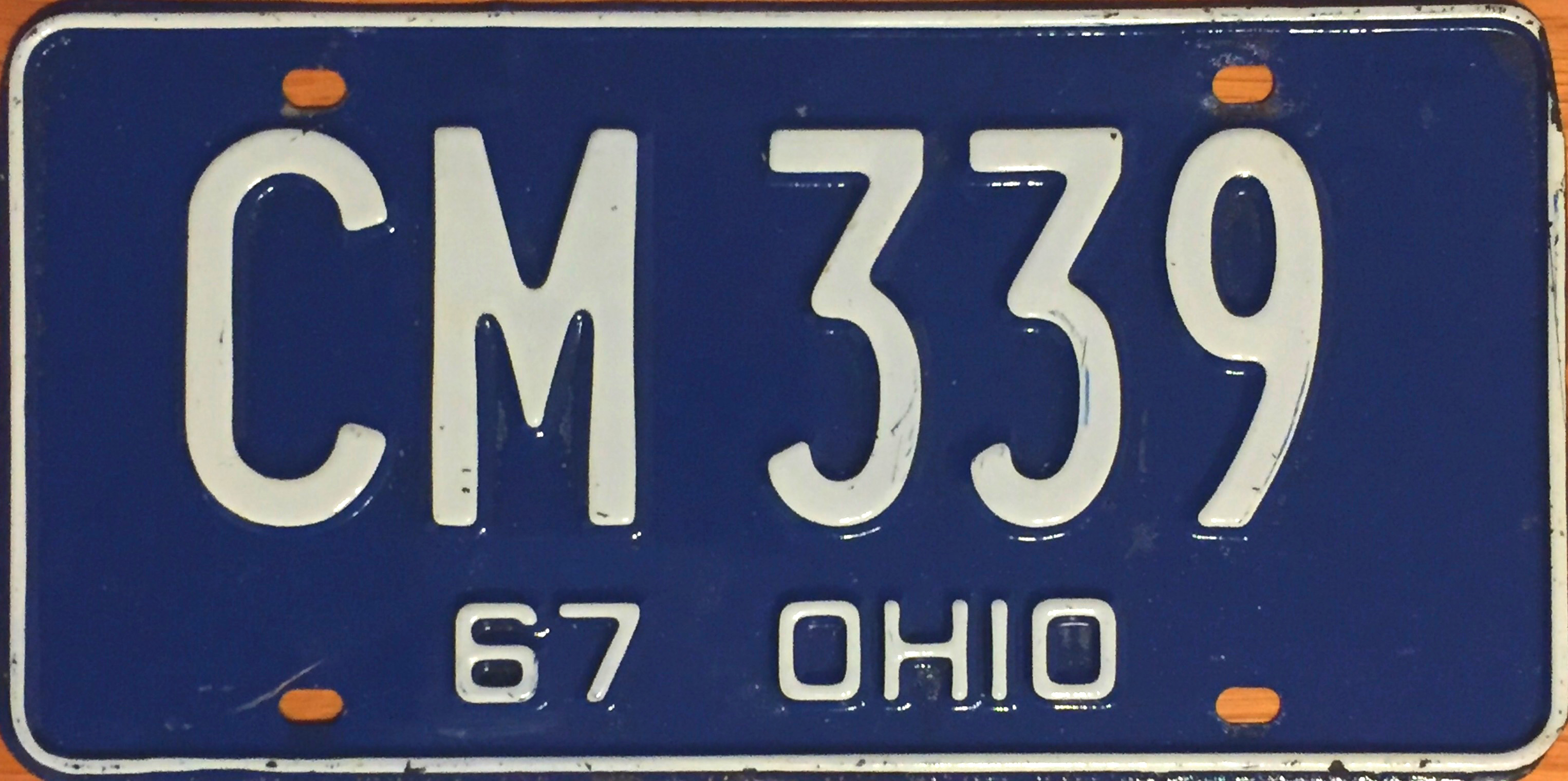 File:1967 Ohio license plate.JPG - Wikimedia Commons