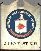 Original sign with seal from the CIA's first building on E Street in Washington, D.C.