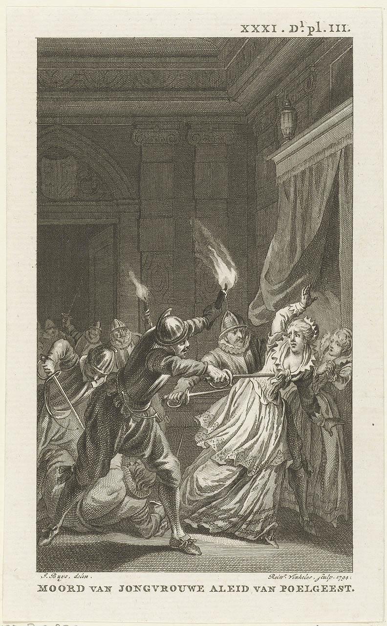 De moord op Aleid van Poelgeest door enkele Hoeken