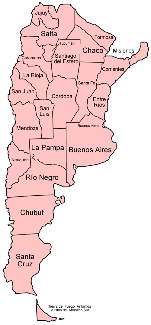 File Argentina Provinces Spanish Png Wikimedia Commons