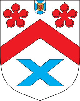 Coat of arms of the Agnew baronets (1629) with the badge of a Baronet of Nova Scotia. Arms of Baronet Agnew of Lochnaw.jpg