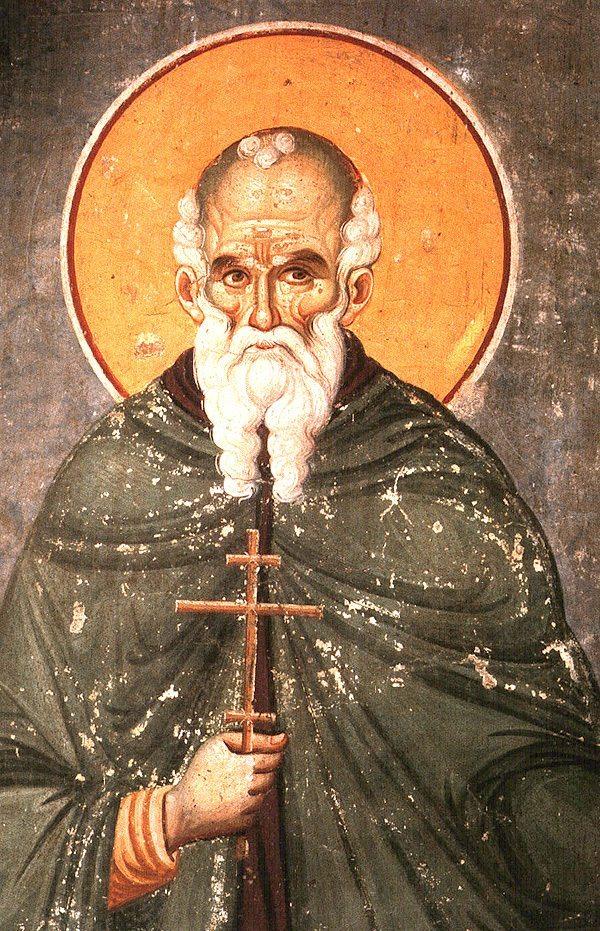 Russische Ikone des Heiligen Athanasios