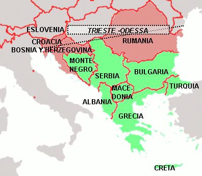 Otra línea de separación, la línea Trieste-Odesa