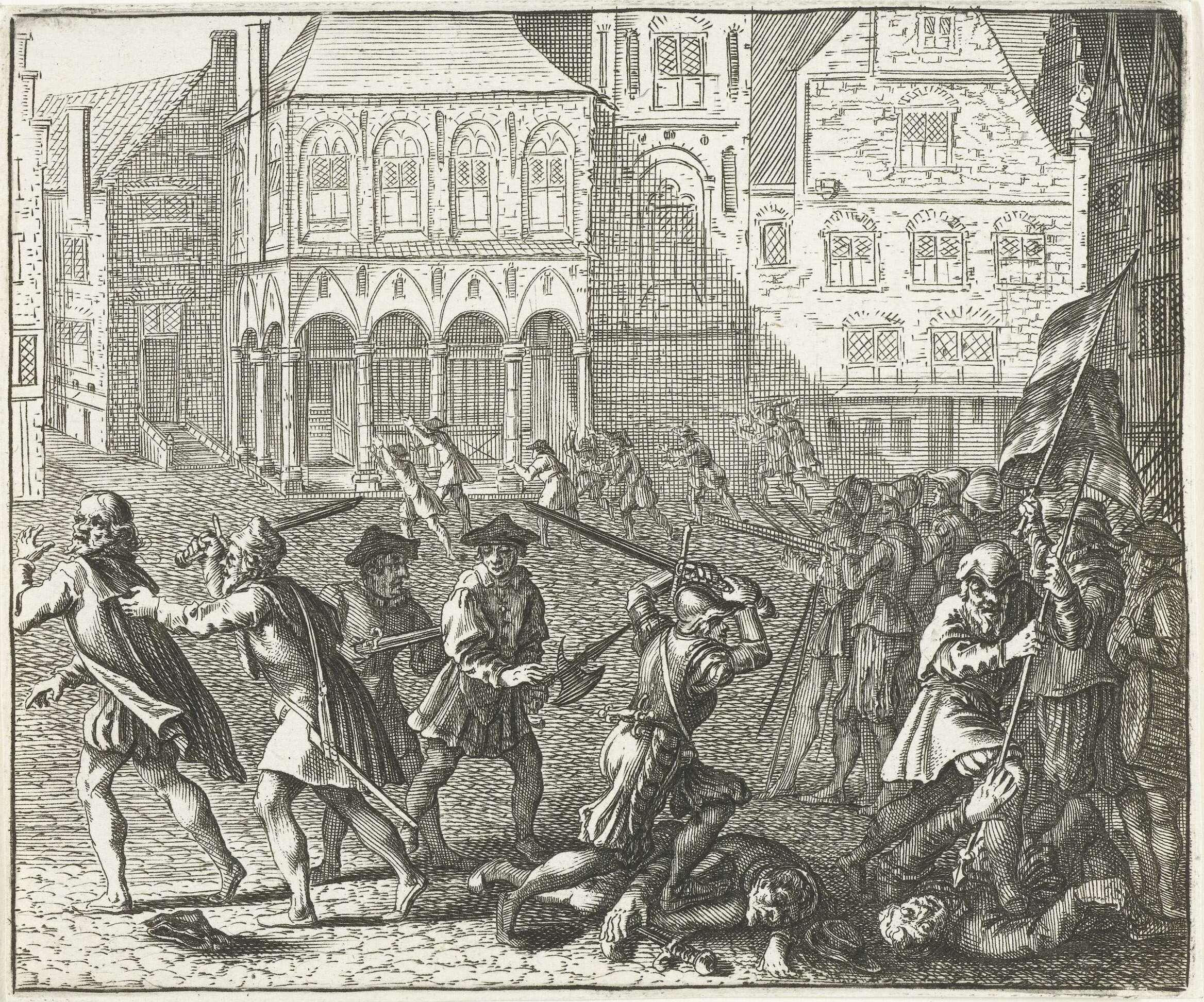 File:Barend Dircksz - Wederdopersoproer 10 May 1535 in Amsterdam RP-P-OB