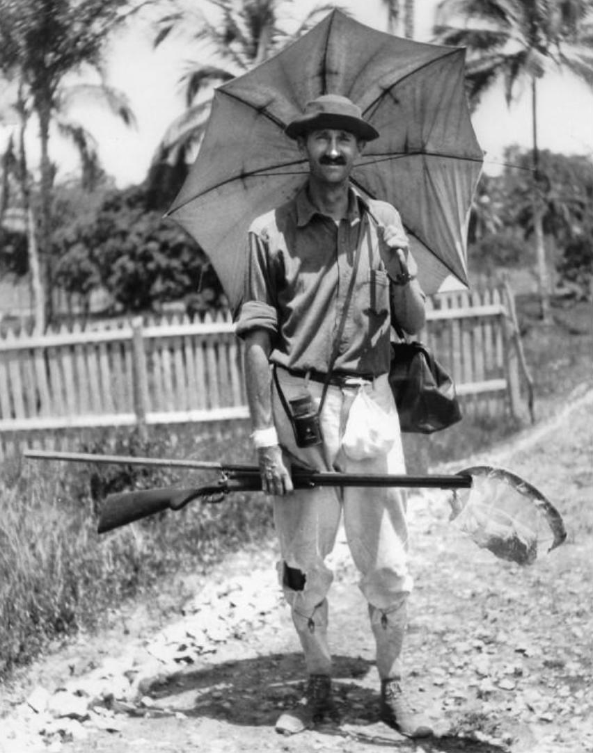 William Beebe in [[British Guiana]] in 1917
