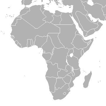 blank map of africa and middle east. lank map of africa.