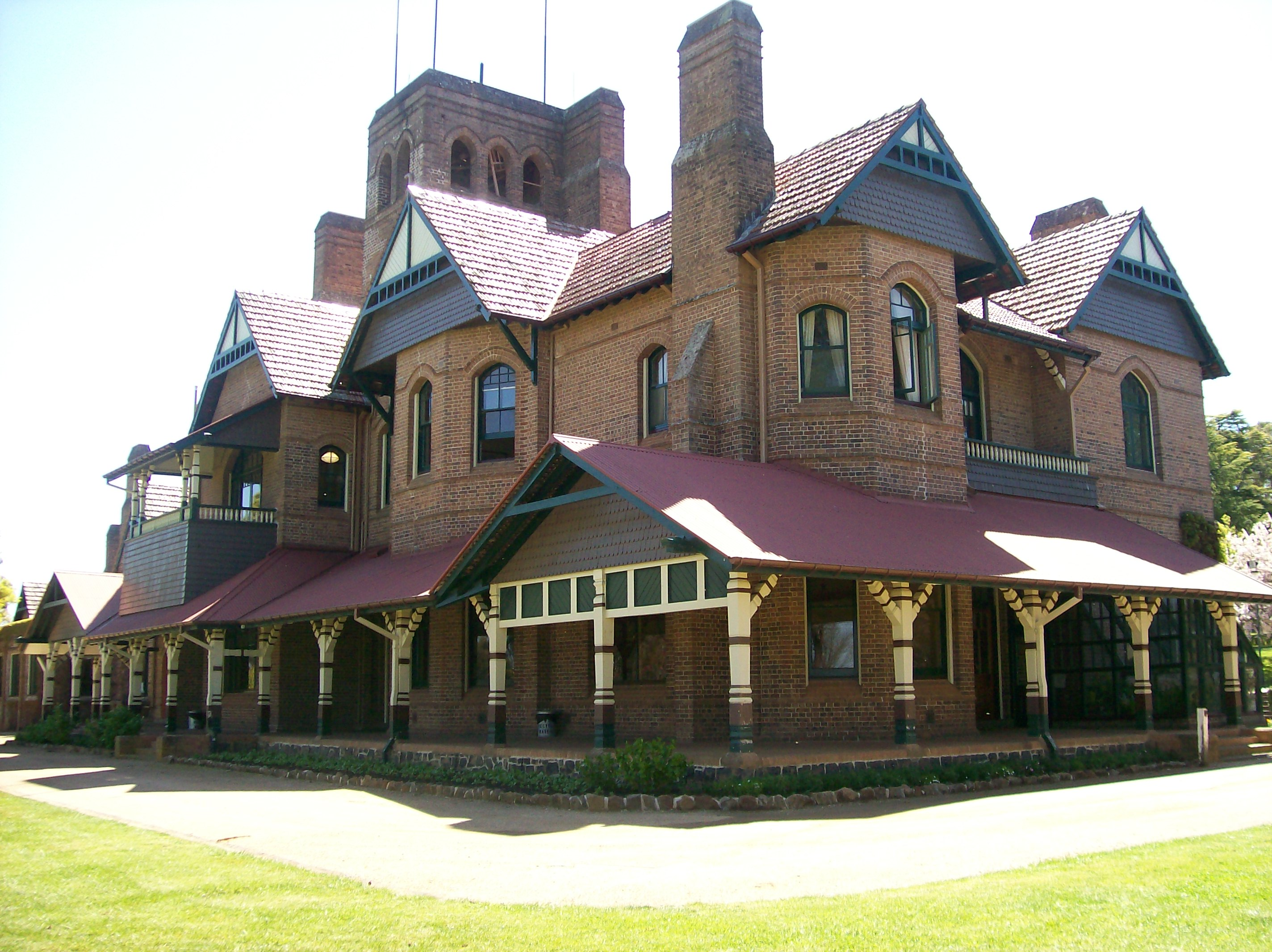 Booloominbah by John Horbury Hunt, UNE Armidale, Southern Elevation