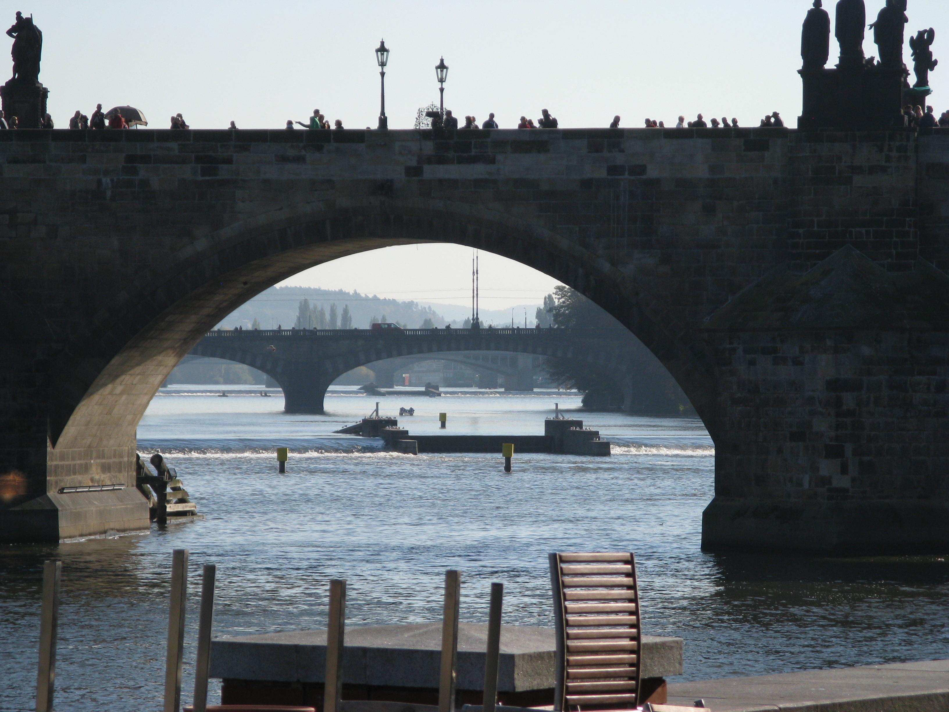 Description bridges in prague over vltava prague