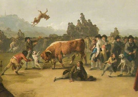 File:Bull Baiting by Julius Caesar Ibbetson (detail).jpg