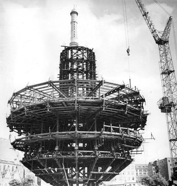 Bundesarchiv Bild 183-F0818-0022-001, Berlin, Fernsehturm, Bau