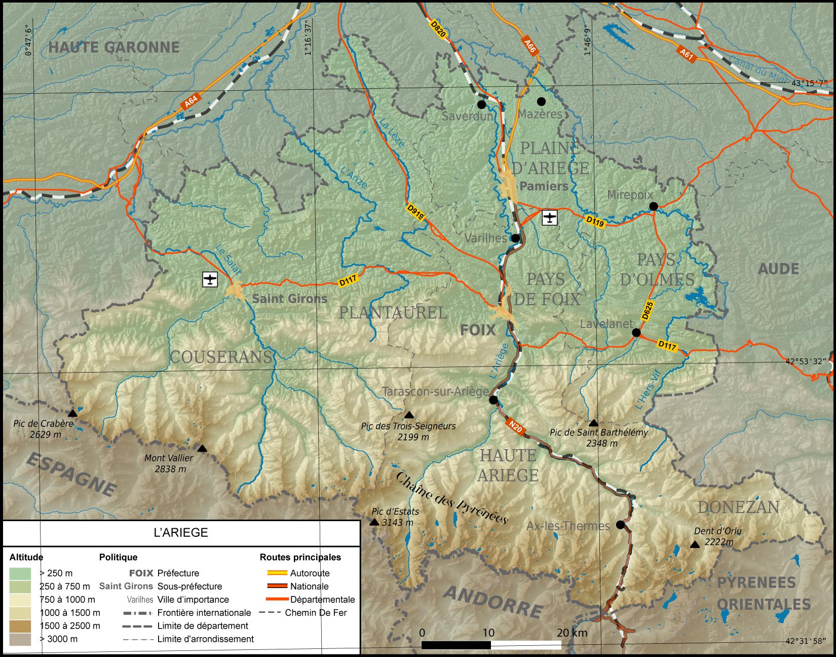 carte de l ariege File:Carte de l'Ariège.png   Wikimedia Commons